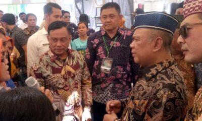 Suasana stand Disnaker di Malang Kabupaten Expo 2019 (ist)