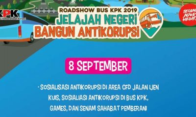 Roadshow bus KPK 2019 di Malang