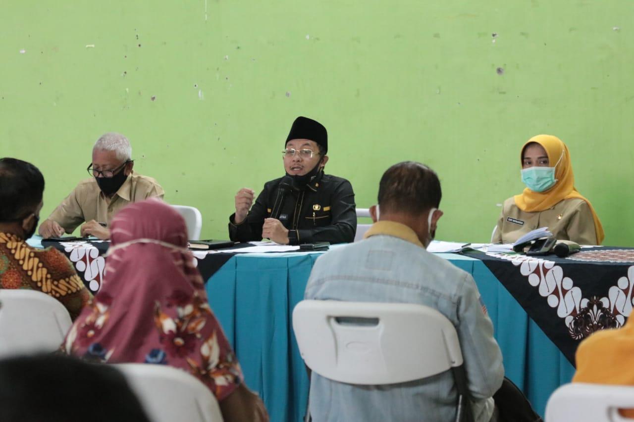 Wali Kota Malang Sutiaji saat menyampaikan langkah tracing di Kelurahan Bunulrejo
