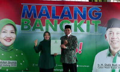 Bakal pasangan Cabup-Cawabup dari PKB Latifah Shohib dan Didik Budi Muljono