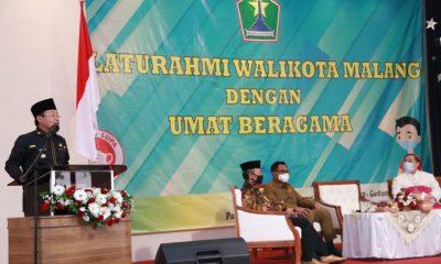 Walikota Sutiaji saat memberikan arahan dalam silaturahmi dengan umat beragama