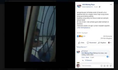 Polres Malang Selidiki Video Kekerasan Anak Saat Kerjakan Tugas Sekolah