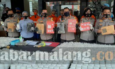 Jaringan narkotika Kota Malang Dibongkar (Foto : kabarmalang.com)