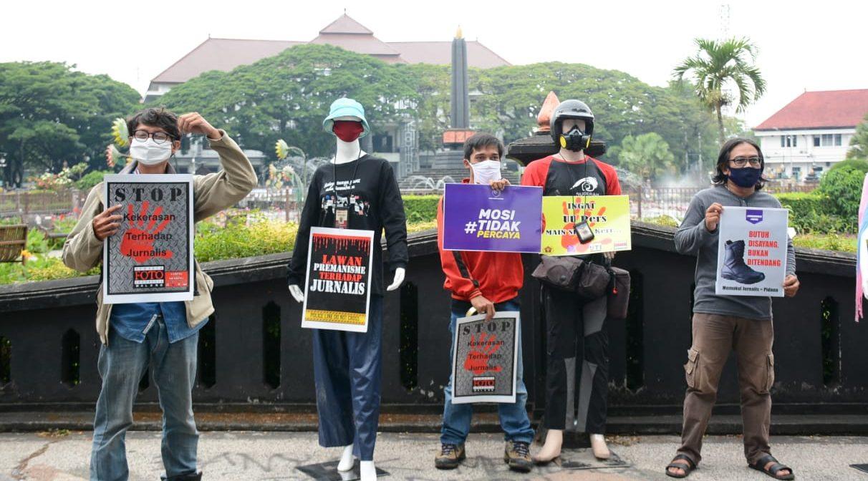 Jurnalis Dikriminalisasi, Pewarta Malang Gelar Aksi