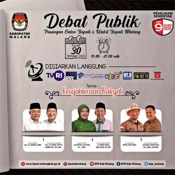 Iklan Debat Publik KPU Kabupaten Malang