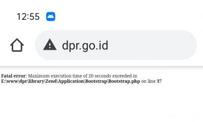 DPR Go Id Tidak Bisa Diakses