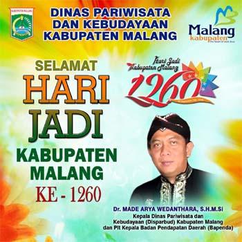 Iklan Hari Jadi Kabupaten Malang dari Disparbud Kabupaten Malang