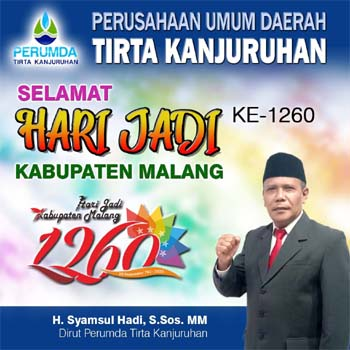 Iklan Hari Jadi Kabupaten Malang dari Perumda Tirta Kanjuruhan