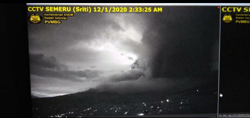 Gunung Semeru Erupsi Bpbd Waspadai Abu Vulkanik 3 Kecamatan Di Kabupaten Malang