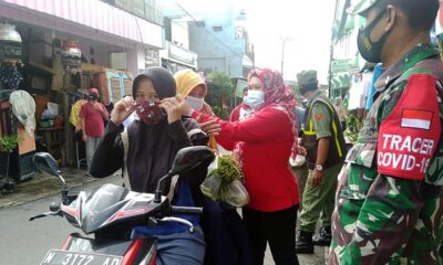 Koramil Blimbing Ajak Warga Operasi Yustisi, Sasar Kampung Dan Pasar