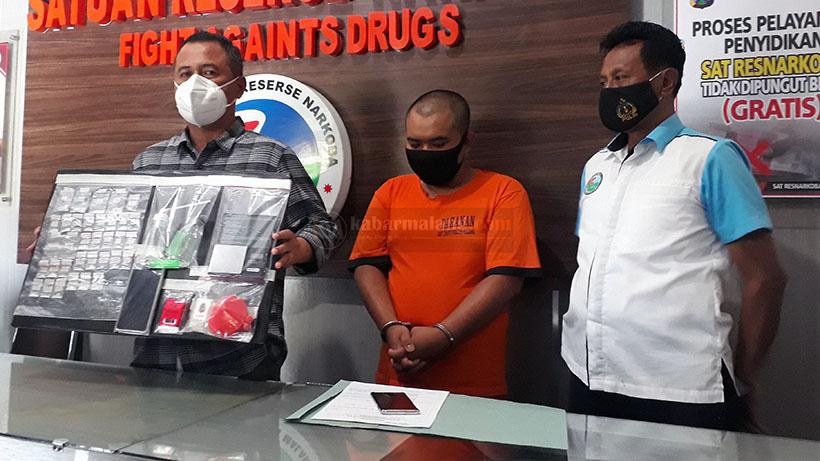Satreskoba Polres Malang OTT Montir Pengedar Narkoba
