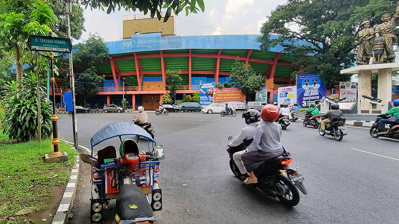 Jalan Di Stadion Gajayana Kota Malang Jadi Satu Arah