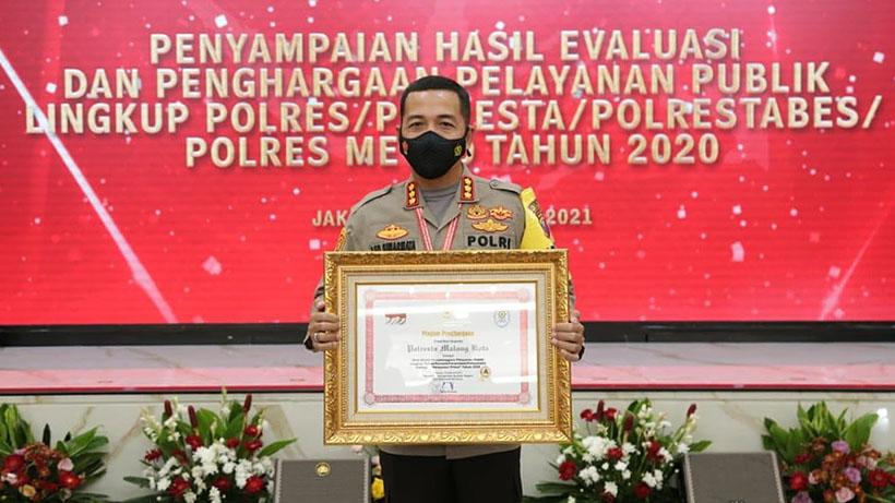 Polresta Malang Kota Raih Penghargaan Pelayanan Publik Prima A