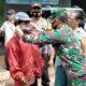 Koramil Kedungkandang Giatkan PPKM, Bagi Masker Di Pasar Madyopuro