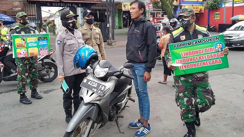 Forpimcam Sukun Kota Malang Gelar Operasi Yustisi