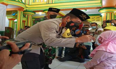 Kapolresta Malang Kota Canangkan Gerakan Santri Bermasker