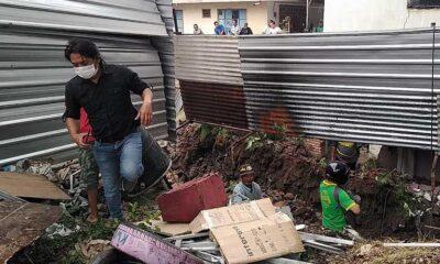Banjir Menerjang Plengsengan di Batu, Tembok Rumah Warga Ambrol