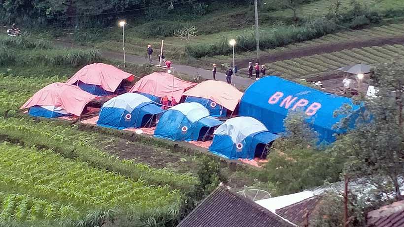 Dusun Brau Kota Batu Longsor, 45 Warganya Huni Pengungsian