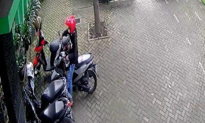 Sepeda Motor Guru SDN Sawojajar 1 Dicuri, Aksi Pelaku Terekam CCTV