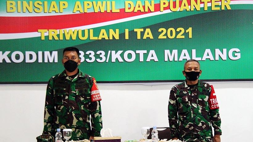 Kodim Kota Malang Gelar Binsiap Apwil Puanter, Tingkatkan Skill Prajurit