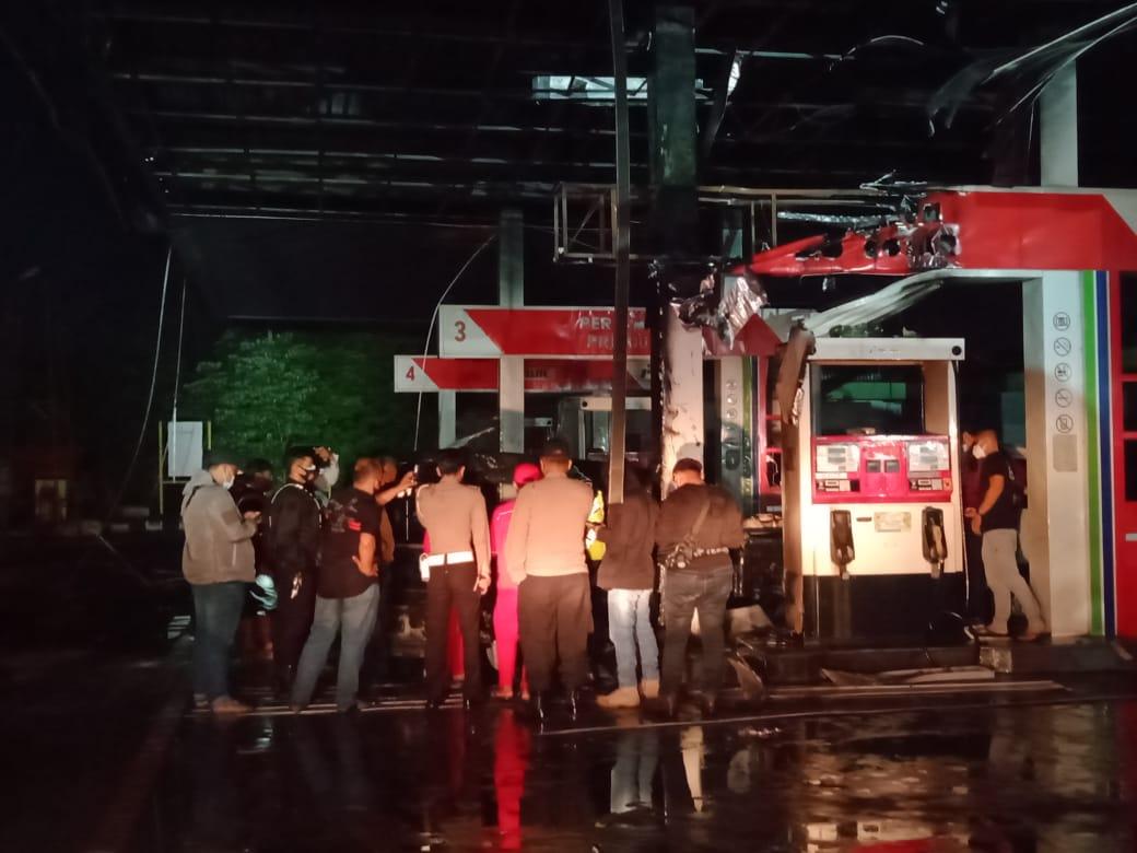 Kerugian Kebakaran SPBU Buring Malang Tembus Hampir Rp 1 Miliar