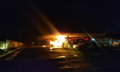 Kebakaran Pom Bensin Buring, Pemicunya Percikan Api dari Mobil Mikrolet