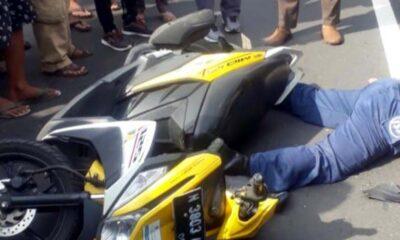 Kecelakaan Truk Versus Motor Di Lawang Malang, Satu Meninggal