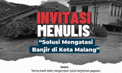Invitasi Menulis PDIP Kota Malang Pengumuman 22 Maret 2021
