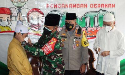 Gerakan Santri Bermasker Sambang Ponpes Bahrul Maghfiroh Malang