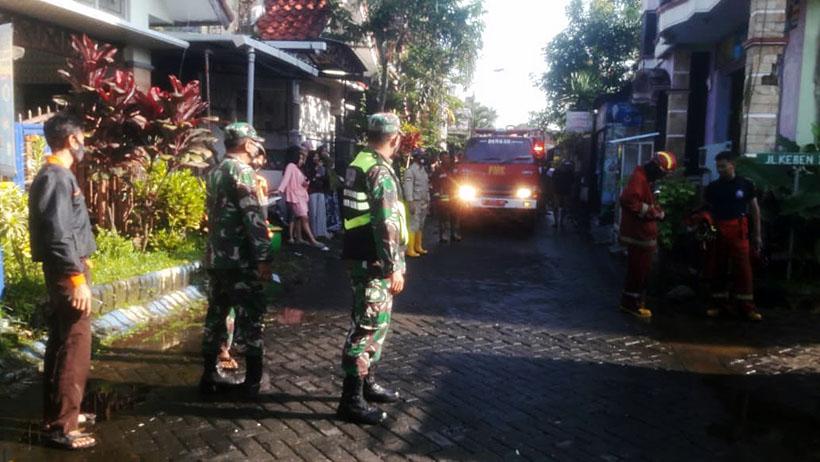 Lupa Mematikan Kompor, Rumah Di Jalan Keben Kota Malang Terbakar