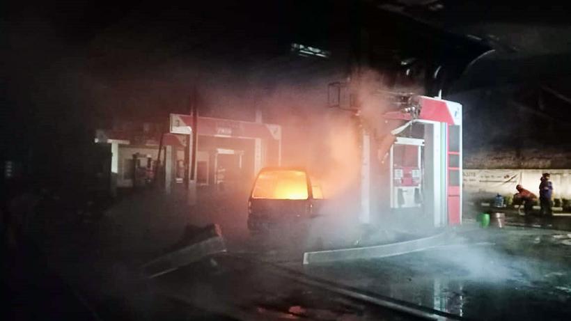 Kebakaran Kota Malang 13 Kejadian, SPBU Terbakar Paling Menonjol