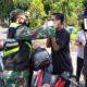 Petugas Gabungan Sukun Tegur Keras Pengendara Tanpa Masker