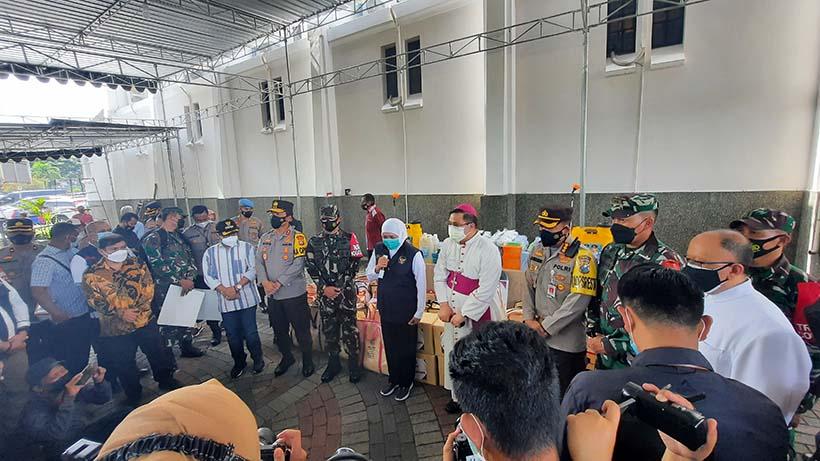 Gubernur Sambang Gereja Idjen Malang, Jamin Paskah 2021 Aman