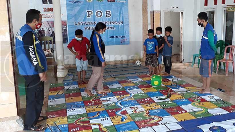 Tagana Trauma Healing Anak-Anak Terdampak Gempa Bumi Di Malang