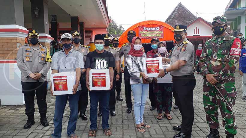 Sespimti Polri Korwil Jatim Salurkan Paket Sembako Untuk Korban Gempa