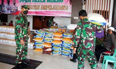 Dandim 0833 Kota Malang Salurkan Bansos Untuk Korban Gempa