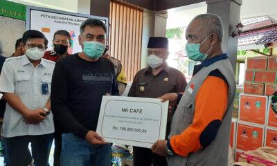 Pembina PWI Malang Raya Bantu Korban Gempa Malang Rp 100 Juta