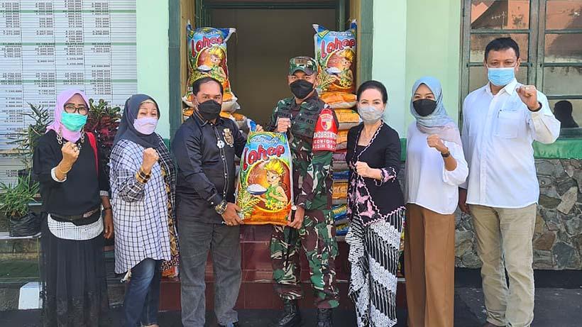 Kodim Kota Malang Salurkan 1 Ton Beras Dari MTC Untuk Korban Gempa