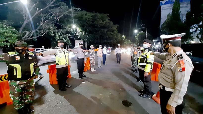 Ops Ketupat Plus PPKM, Dua Pos Pam Kota Malang Siaga Semalaman