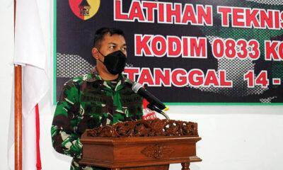 Asah Kemampuan Prajurit, Kodim 0833 Kota Malang Gelar Latnister