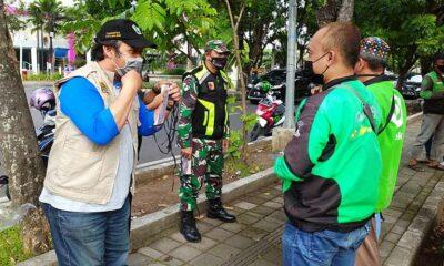 Ojol Kena Operasi Masker Di Jalan Raya Terusan Dieng Kota Malang