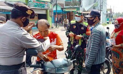 Patroli Masker Target Pengguna Jalan Di Kecamatan Blimbing Malang