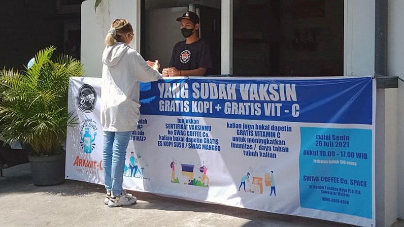 Kopi Gratis Dan Vitamin Dari Kafe Di Malang Ini, Bagi Yang Sudah Vaksin