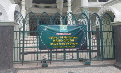 Masjid Jami' Kota Malang Batasi Salat Idul Adha, Tiadakan Potong Kurban