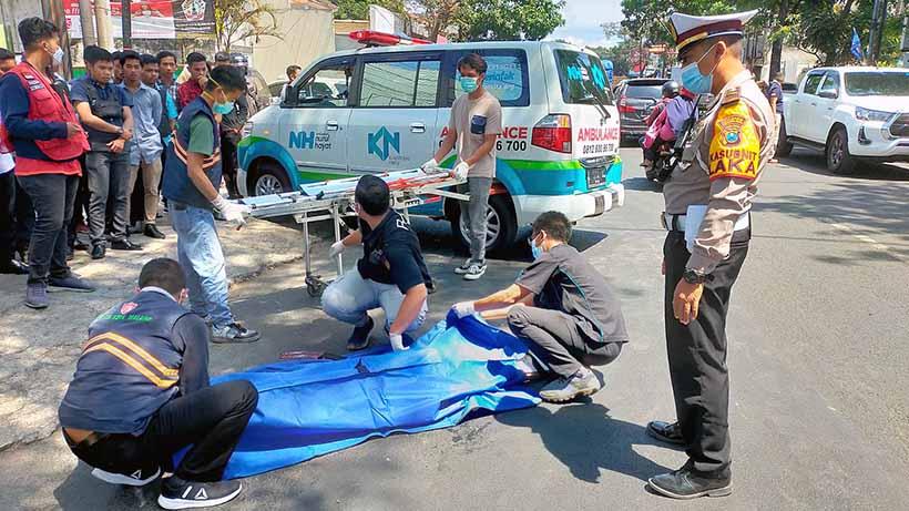 Kecelakaan Di LA Sucipto Malang Kota, Remaja Putri Terlindas Truk