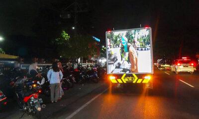 Truk Videotron Di Kota Malang Sosialisasikan Prokes