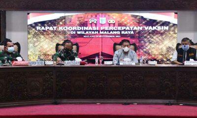Kebut Vaksinasi, Forpimda Malang Raya Target 70 Persen
