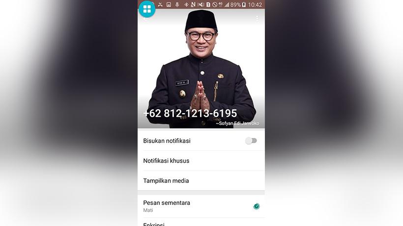 Awas! Nomor Telepon Ini Nyaru Wawali Kota Malang Sofyan Edi Jarwoko, Jangan Tertipu